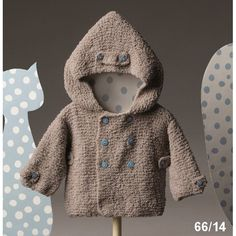 5 hour baby sweater - this fre Baby Knitting Patterns, Baby Sweater Knitting Pattern, Crochet Hoodie, Baby Patterns, Crochet For Boys, Knitting For Kids, Baby Kind, My Baby Girl, Catalogue Katia