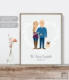 Get the best deals for Engagement Portrait / Personalized Portrait / The Future, Engagement Party / Custom Illustration ▷ Printable File {or} Printed & Shipped here - Product https://www.etsy.com/listing/513682455/engagement-portrait-personalized?utm_source=mento&utm_medium=api&utm_campaign=api #weddings