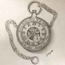 Bildergebnis für pocket watch tattoo sketch