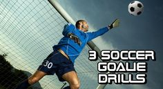 3 Soccer Goalie Drills. Goalies need to learn diverse skills that help them block shots and return balls to their teammates. These soccer goalie exercises will help coaches teach essential skills to their players. Improve reach, flexibility, and aim.