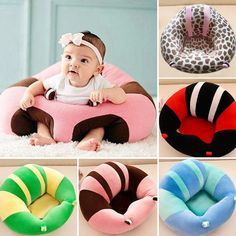 Baby Support Seat Plush Soft Baby Sofa - Learning To Sit Chair 0-6 Months