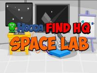 You are a member of a secret club. The headquarters is somewhere in the Space Lab. Look around and find clues to help you find HQ. Good luck!