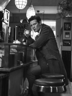 A Doctor a day/Matt Smith for Interview magazine, November 2016 Matt Smith, Sing Street, David Tennant Doctor Who, Gentlemans Club, San Claflin, Doctor Who Quotes, Rory Williams, Eleventh Doctor, Black And White