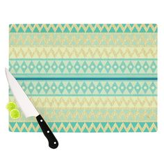 Glitter Chevron Cutting Board
