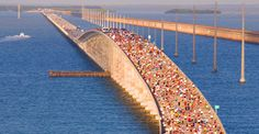 Seven Mile Bridge Run in the Florida Keys. The only #race in the country completely surrounded by water. #running #bucketlist