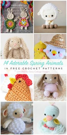 free crochet patterns | crochet patterns for spring | stuffed animal crochet patterns | These adorable crochet patterns are just the thing for Spring. From stuffing Easter baskets to making your home look ready for spring, there's something here that will be perfect for you this season!