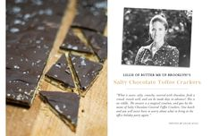 The Everygirl Holiday Week: 5 Top Baking Bloggers Share Their Favorite Dessert // Salty Chocolate Toffee Crackers // by Lillie of Butter Me Up, Brooklyn!
