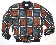 SALE Vintage Clothing  1980s Silk Bomber Jacket  Light