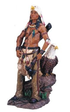 Native American Large Indian Warrior Family Winter Migration Figurine Sculpture
