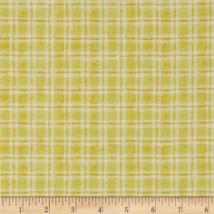 Believe Dashed Plaid Yellow from @fabricdotcom  Designed by Jone Hallmark for Blend Fabrics, this cotton print is perfect for quilting, apparel, crafts, and home decor items. Colors include yellow and white.