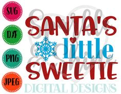 Christmas SVG DXF JPEG Christmas Cut File Santa's