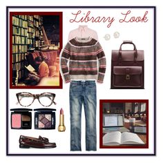 """Library Look"" by unemerefiere ❤ liked on Polyvore featuring Bass Weejuns, Madewell, Polo Ralph Lauren, J.Crew, Dr. Martens, Cutler and Gross, Christian Dior, Blue Nile, women's clothing and women"