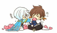 Sorey and Mikleo - Tales of Zestiria Too much cuteness >v< Tales Of Zestiria, Tales Series, Anime Ships, Doujinshi, Funny Moments, Manga Anime, Anime Boys, Cool Art, Awesome Art