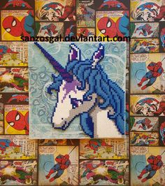 The Last Unicorn perler beads by sanzosgal (made from pattern by Christa D Art)