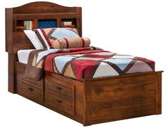 Slumberland | Barchan Collection - Full Bookcase Captains Bed