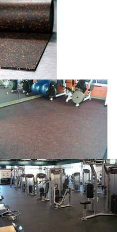 """3//8/"""" 8mm Blue Speckle Rolled Rubber Gym Fitness Flooring 4/' x 50ft Roll,200sqft"""