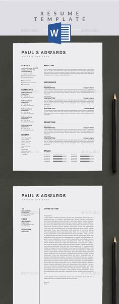 Clean, Minimalist, And Beautiful Professional CV / Resume Templates Help  You Applying Your Dream Job.