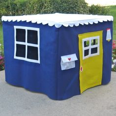This listing is for a royal blue Basic Bungalow Card Table Playhouse. This play house fits your own Card Table Playhouse, Playhouse Ideas, Indoor Play Areas, Tent Fabric, Waterproof Tent, Table Tents, Kids Tents, Royal Blue Color, Table Cards