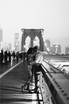 Special moment on a bridge.