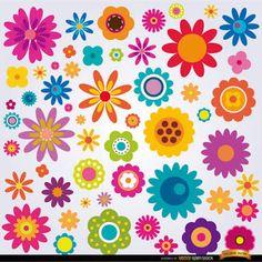 """Képtalálat a következőre: """"moldura de flores coloridas"""""""