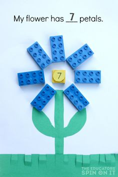 LEGO Garden, a preschool math activity for ages 3-5
