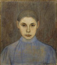 Beda Stjernschantz (Finnish, 1867 - Irma (via Finnish National Gallery) Female Painters, Contemporary History, National Gallery, Modern Portraits, Nordic Art, Digital Museum, Collaborative Art, Modernism, Female Art