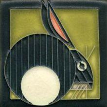 Motawi Tile: Charley Harper Hare SB Framing gallery
