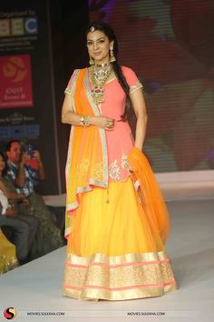 Juhi Chawla at Glamour Style Walk 2013 Fashion Show find similar lace and patch designs on www.lacxo.com