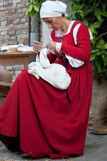 Ricostruzione Gamurra italiana -1485-1495-FAMALEONIS Ricostruzione Storica