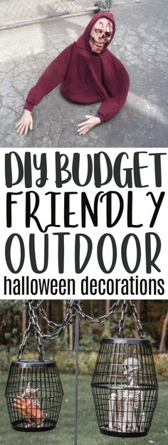 Are you still looking for some DIY Budget Friendly Outdoor Halloween Decorations? If your answer is YES, you're going to love this roundup we've made just for you! Halloween isn't complete without making some spooky Halloween decorations. Spooky Halloween Decorations, Halloween Crafts For Kids, Outdoor Halloween, Dog Halloween, Halloween Projects, Crafts For Teens, Teen Crafts, Diy Projects, Fall Crafts