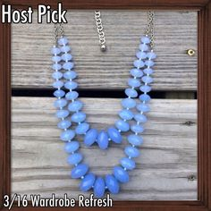 💙HP: Light Blue Statement Necklace Features gorgeous light blue faceted beads of graduating sizes. It is on an adjustable silver chain. Like new condition. 3/16 Wardrobe Refresh Host Pick. Jewelry Necklaces