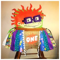 Rugrats high chair cover, rugrats high chair banner, high chair decoration, highchair decoration, boy high chair banner