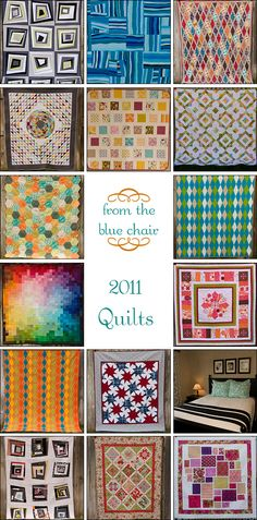 """I like the quilt just below the one showing in the lower left (not visible here, but if you click on the picture, you'll be able to see it--lots of solid squares with fabulous """"light play"""" effect."""