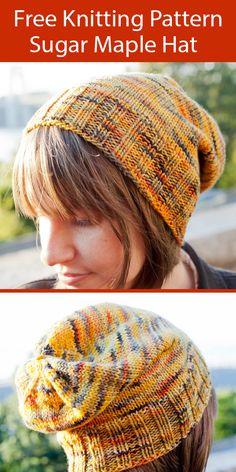 Beanie Knitting Patterns Free, Knitting Yarn, Free Knitting, Hat Patterns, Crochet Beret Pattern, Knitting Accessories, Knitting Projects, Crochet Projects, Mittens