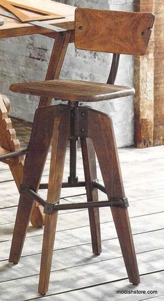 Roost Phineas Drafting Stool with Back – Modish Store