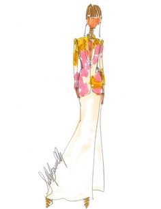 SKETCH A DAY by sully 45/365 sullybonnelly.com #SullyBonnelly #Sully #Fashion #CFDA #FashionDesigner #NYC #Summer #Flowers