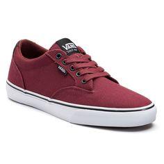 Vans Winston DX Men's Canvas Skate Shoes, Size: medium (11.5), Med Red