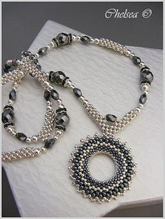 bead necklac, beaded necklaces, chelseaspearl, pattern, stun necklac, jewelri, dezemb 2009