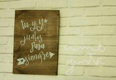 Cartel madera personalizado  / bodas / decoración /
