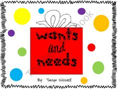 Several activities designed for younger elementary school students. Lessons intend to help younger students determine the difference between a want and a need. Students can participate in a magazine hunt, sorting, and writing assignments. Lessons are a handy suppliment to use during the holiday season.