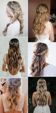 20 Brilliant Half Up Half Down Wedding Hairstyles for 2019 # wedding . 20 Brilliant Half Up Half Down Hochzeitsfrisuren für 2019 20 Brilliant Half Up Half Down Wedding Hairstyles for 2019 Wedding Hairstyles For Long Hair, Wedding Hair And Makeup, Bride Hairstyles Down, Wedding Hair With Braid, Bridal Hairstyles, Hairstyles For Bridesmaids, Country Wedding Hairstyles, Wedding Headband, Bridal Hair Braids