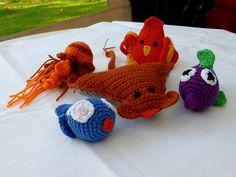 Fische,Qualle,Rochen,Vogel