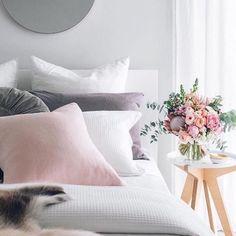 Image result for chambre blanc bois gris et rose