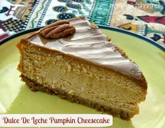 Mommy's Kitchen - Country Cooking & Family Friendly Recipes: Dulce De Leche Pumpkin Cheesecake! This is my absolute favorite cheesecake for fall!!!