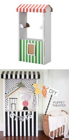 mommo design: IKEA HACKS - Skylta puppet theater