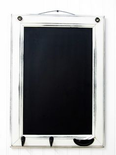 blackboard from a recycled cabinet door, $42 at TheDoorStop (...or you could do it yourself)