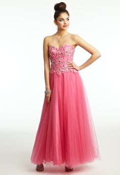Lace and Tulle Ballgown Prom Dress from Camille La Vie and Group USA