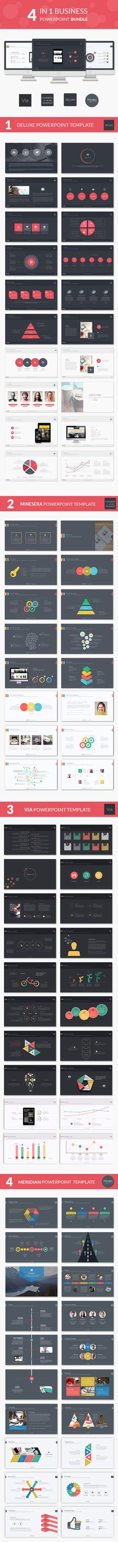4 Business Powerpoint Bundle Template #powerpoint #powerpointtemplate Download: http://graphicriver.net/item/4-business-powerpoint-bundle/10459414?ref=ksioks