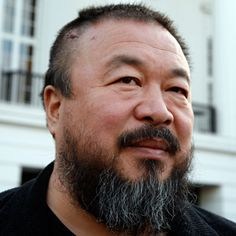 Ai Weiwei-Age: 53  Occupation: Artist, activist, architect. The work of China's global artist Ai Weiwei is not only aesthetically thrilling but stands as a sophisticated & courageous rebuke to the ideological & consumerist ethos of the People's Republic. His work is political. Such an inspiration.