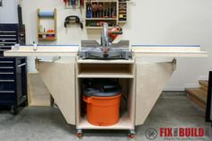 Mobile Miter Saw Station